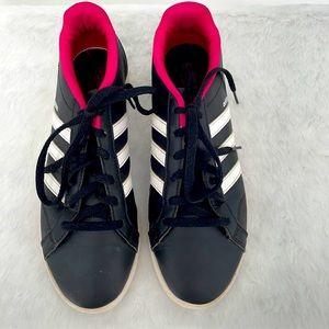 Ladies Adidas Neo Comfort black white pink shoes